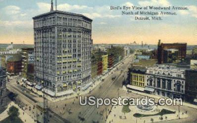 Michigan Avenue - Detroit Postcard