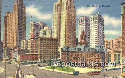 Detroit, MI Postcard     ;     Detroit, Michigan