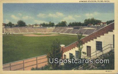 Atwood Stadium - Flint, Michigan MI Postcard