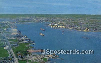 American Soo Locks - Sault Ste Marie, Michigan MI Postcard