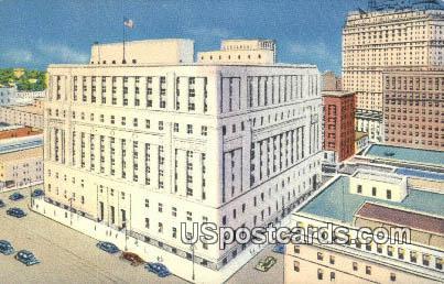 New Post Office - Detroit, Michigan MI Postcard