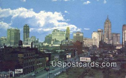 West Fort Street - Detroit, Michigan MI Postcard