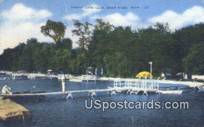 Indian Lake Club - Niles, Michigan MI Postcard