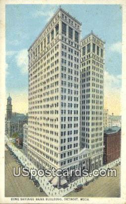 Dimes Savings Bank Building - Detroit, Michigan MI Postcard