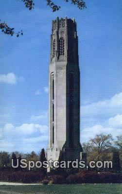 Nancy Brown's Peace Carillon - Detroit, Michigan MI Postcard