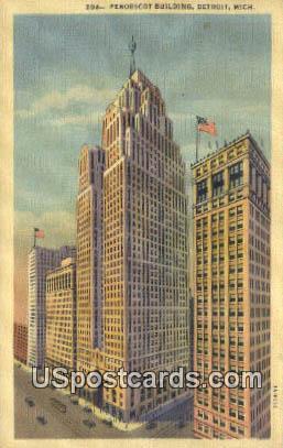Penobscot Building - Detroit, Michigan MI Postcard