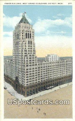 Fisher Building - Detroit, Michigan MI Postcard