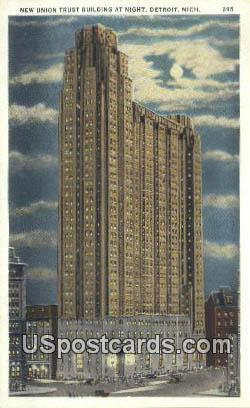 New Union Trust Building - Detroit, Michigan MI Postcard