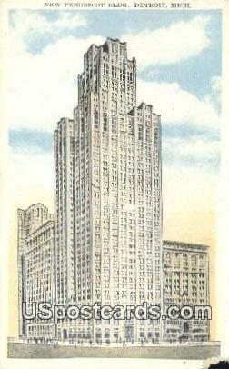 New Penobscot Building - Detroit, Michigan MI Postcard