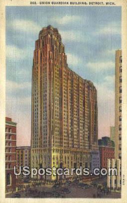 Union Guardian Building - Detroit, Michigan MI Postcard