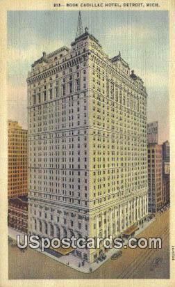 Book Cadillac Hotel - Detroit, Michigan MI Postcard