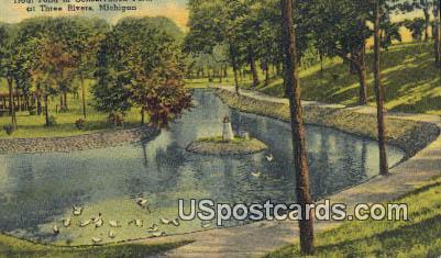 Trout Pond, Conservation Park - Three Rivers, Michigan MI Postcard