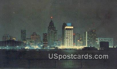 Detroit, Michigan Postcard     ;     Detroit, MI