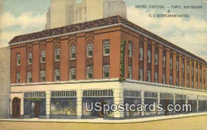 Hotel Capitol - Flint, Michigan MI Postcard