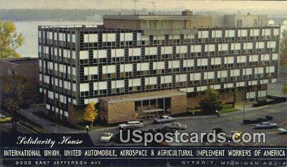 Solidarity House - Detroit, Michigan MI Postcard