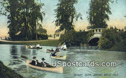 Bridge, Belle Isle - Detroit, Michigan MI Postcard