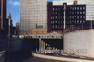 Tunnel Entrance - Detroit, Michigan MI Postcard