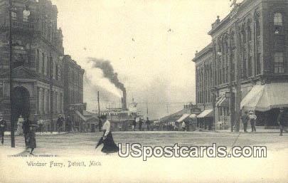 Windsor Ferry - Detroit, Michigan MI Postcard