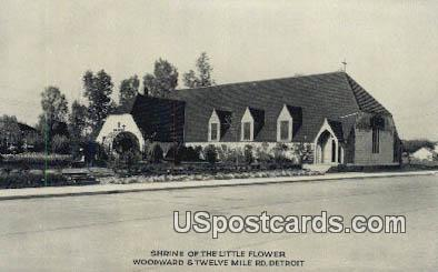 Shrine of the Little Flower - Detroit, Michigan MI Postcard