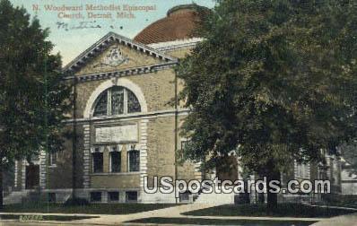 N Woodward Methodist Episcopal Church - Detroit, Michigan MI Postcard