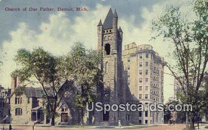 Church of Our Father - Detroit, Michigan MI Postcard