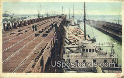 South Shore Railway Docks - Marquette, Michigan MI Postcard