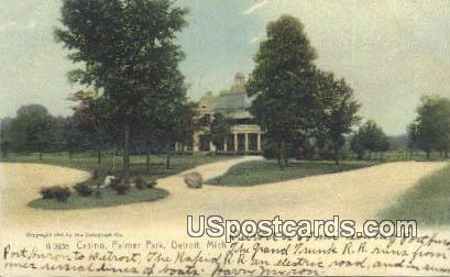 Casino, Palmer Park - Detroit, Michigan MI Postcard