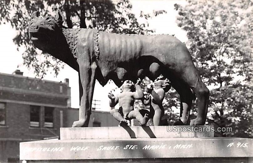 Capitoline Wolf - Sault Ste Marie, Michigan MI Postcard