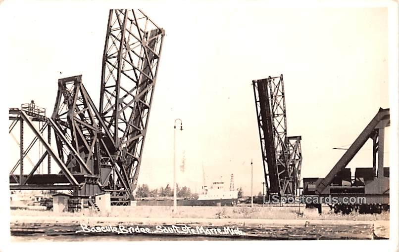 Bscule Bridge - Sault Ste Marie, Michigan MI Postcard