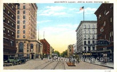 Washington Ave.  - Sault Ste Marie, Michigan MI Postcard