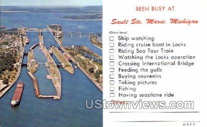 Sault Ste. Marie - Sault Ste Marie, Michigan MI Postcard