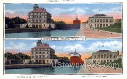 In the Land of Hiawatha - Sault Ste Marie, Michigan MI Postcard