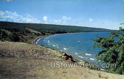 Sand Bay - MIsc, Michigan MI Postcard