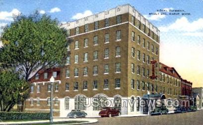 Hotel Ojibway - Sault Ste Marie, Michigan MI Postcard