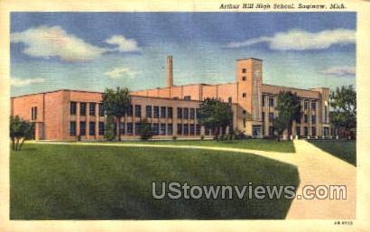 Arthur Hill High School - Sault Ste Marie, Michigan MI Postcard