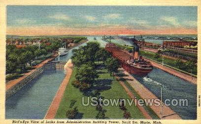 Administration Building Tower - Sault Ste Marie, Michigan MI Postcard