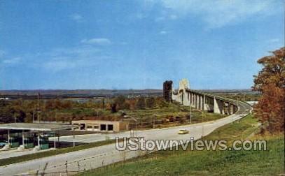 Toll Gate, International Bridge - Sault Ste Marie, Michigan MI Postcard