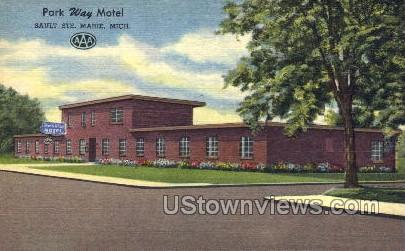 Parkway Motel - Sault Ste Marie, Michigan MI Postcard