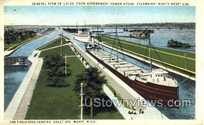 Government Power House - Sault Ste Marie, Michigan MI Postcard