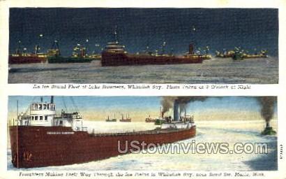 Whitefish Bay - Sault Ste Marie, Michigan MI Postcard