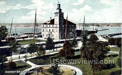 Government Park and Lock - Sault Ste Marie, Michigan MI Postcard