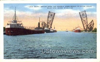 Jack Knife - Sault Ste Marie, Michigan MI Postcard