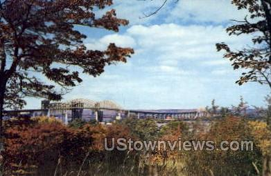 The International Bridge - Sault Ste Marie, Michigan MI Postcard