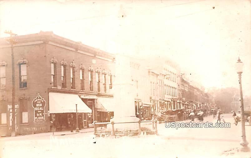 Main Street - Three Rivers, Michigan MI Postcard