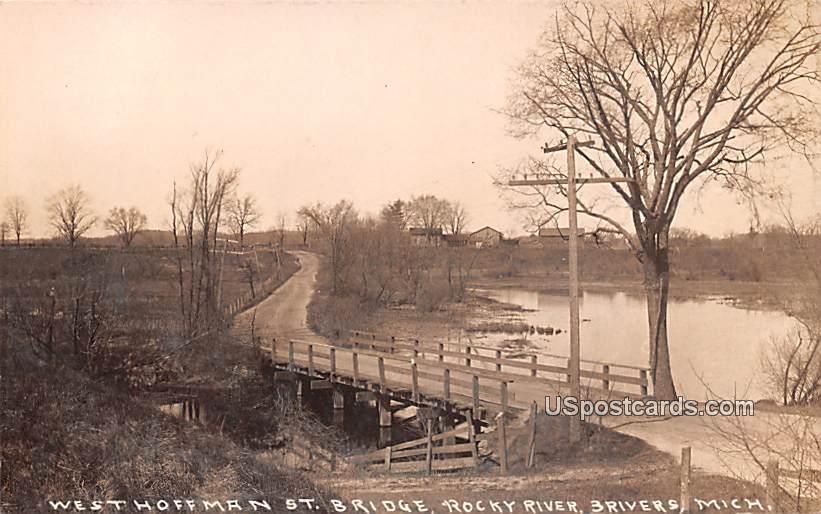 West Hoffman St Bridge - Three Rivers, Michigan MI Postcard