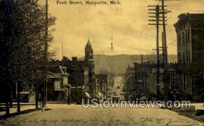 Fruit Street  - Marquette, Michigan MI Postcard