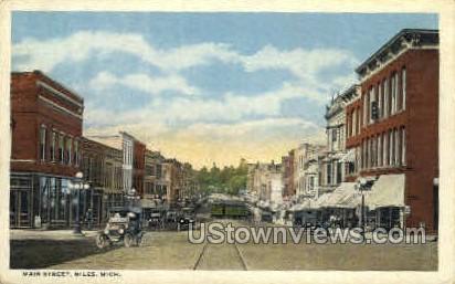 Main Street  - Niles, Michigan MI Postcard