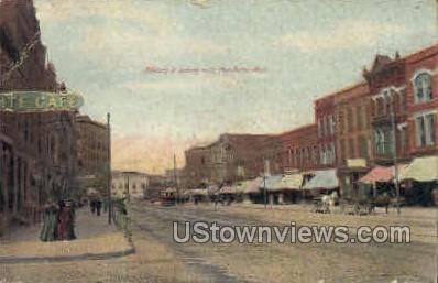 Military Street  - Port Huron, Michigan MI Postcard