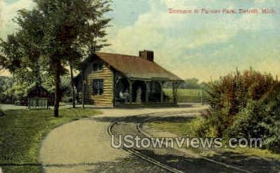 Palmer Park Entrance  - Detroit, Michigan MI Postcard