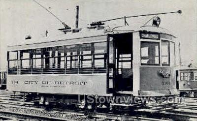 Department of Street Railways  - Detroit, Michigan MI Postcard